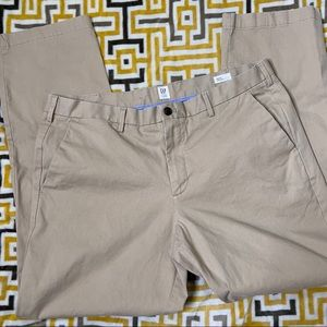 Gap Mens Khaki Chino Work Pant 40x34 Straight Leg